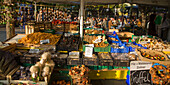 Viktualienmarkt in  Munich ,truffle, funghi, background beer garden,  Germany