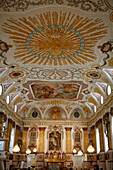 Buergersaalkirche, baroque , rich ornaments at the ceiling, Munic , Bavaria, Germany