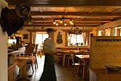 Inside Almgasthaus Aibl, Lake Tegernsee, Upper Bavaria, Bavaria, Germany