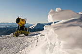 Snow cannon, Reinswald skiing area, Sarn valley, South Tyrol, Italy