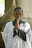 SOUTH SUDAN  Saint Josephs Feast day May 1st being celebrated by Catholic community in Yei  Altar boy