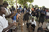 SOUTH SUDAN  Saint Josephs Feast day May 1st being celebrated by Catholic community in Yei  Dancing to traditional music played with African instruments, after the mass