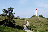 D, Germany, Mecklenburg Western Pomerania, Hiddensee, Isle, Baltic Sea, Kloster, Dornbusch, Landscape, Lighthouse, Viewpoint, Tourists