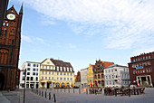 D, Germany, Europe, Mecklenburg Western Pomerania, Stralsund, Old Town, Old Market Place, Architecture, Building, Buildings, urban, City, Facade, historical, Restaurants, Café