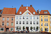 D, Germany, Europe, Mecklenburg Western Pomerania, Stralsund, Old Town, Old Market Place, Architecture, Building, Buildings, urban, City, Facade, historical, Restaurant, Café
