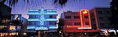 Hotels on Ocean Drive, Miami Beach Art Deco strip, Florida, USA