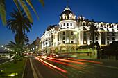 The Promenade des Anglais and Hotel Negresco, Nice, French Riviera, Côte dAzur, France