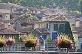 St Antonin-Noble-Val, Aveyron, France. Small town of St Antonin