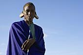 Young Maasai initiate. Masai Mara, Kenya, Africa