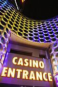 Las Vegas Nevada, a casinos entrance along the Strip