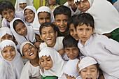 Muslim Children having Fun Being Photographed, Jodhpur, Rajasthan, India
