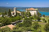 Castle Aiguines, Aiguines, Verdon Regional Natural Park, Canyon of the Verdon Gorges, the High Alps of Provence, Alpes de Haute-Provence, Provence, Provence, France, Europe.