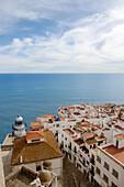Peñiscola aerial view. Castellon province, Comunidad Valenciana, Spain