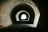 Dark old tunnel
