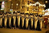 Moros y Cristianos costumes Celebration in Alicante province