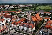 Cityscape with church St. Mary, Frankfurt (Oder), Brandenburg, Germany