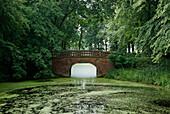 Brücke, Schlosspark Hoppenrade, Brandenburg, Deutschland