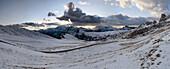 Snow-covered Dolomites near Giau Pass, Trentino-Alto Adige/Südtirol, Italy