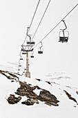 Chairlift, Hintertux, Tyrol, Austria
