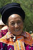 Portrait of a Miao woman