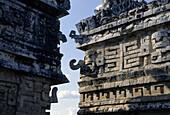 Detail of the Nunnery, Mayan ruins of Chichén Itzá. Yucatán, Mexico