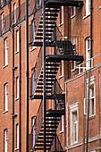 Fire escape, London. England, UK