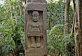 Olmec stela at the La Venta Park. Villahermosa, Tabasco state, Mexico