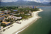 Aerial view, Aerial views, Beach, Beaches, Central America, Cities, City, Coast, Coastal, Color, Colour, Daytime, Exterior, Jalisco, Latin America, Mexico, North America, Outdoor, Outdoors, Outside, Overview, Overviews, Puerto Vallarta, Sea, Tourism, Trav
