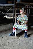 Giorgio Lavalovich, six years old, is clown and he comes from a long family tradition in the circus. Santarém. Amazonas. Brazil.