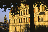 Palace of Blois, the frontage of 'Loges' in Renaissance style, built in the 16 th. century by François 1° king of France and the architect J. Sourdeau, on the list of World Cultural Heritage sites of UNESCO, Loir et Cher province, France
