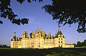 Palace of Chambord, built by King François I  in Renaissance style, on the list of World Cultural Heritage sites of UNESCO, Loir  et Cher, France