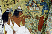 Paintings in a tomb of the Noble's valley, Luxor, Egypt
