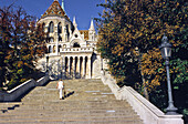 The 'Fishermen stonghold' built from the end of 19 th. to begining 20 th. century, neoroman style, Budapest, Hungary