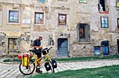 Painted house with Van Gogh images, square Rudnayovo, Bratislava, Slovakia