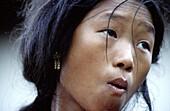 Woman, Tamang ethnic group, Bhaktapur, Nepal