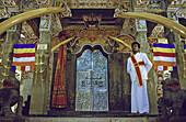 Inside the Tooth temple, Kandy, Sri Lanka
