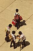 Children affected by poliomyelitis in the Poliomyelitis center, Ho Chi Minh Ville, Vietnam