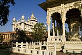 Memorial of Jaswant Thada built in 1899, in white marble, Jodhpur, Rajasthan, India