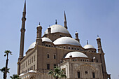 The landmark Mohammed Ali mosque (Alabaster mosque) on top of Saladin Al Aywbi citadel in Cairo. Egypt