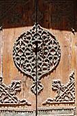 Islamic ornamented wooden door, Cairo Egypt
