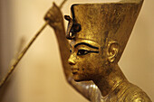 The King as Harpooner, A Golden Statue of king Tutankhamon, New Kingdom, Egyptian museum, Cairo, Egypt