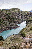 Baker, Blue, Canyon, Chile, Color, Colour, Emerald, Locations, Patagonia, River, Road, Southern, Vertical, World, V29-765987, agefotostock