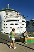 Cruise Ships at Prince George Wharf, Nassau, New Providence Island, Bahamas  Model Released
