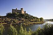 Almourol Castle, set on a island on Rio Tejo, Ribatejo Province, Portugal