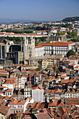 Rooftops and aerial view of Porto Old Town UNESCO World Heritage, Portugal