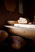 Loaf of bread inside an alpine hut, Food, Mountain, Alps
