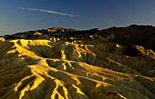 Desert in the evening light, Zabriskie Point, Death Valley, California, USA, America