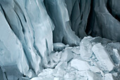 Ice at a glacier, Tyrol, Austria, Europe