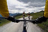 Mountain bike tour, MTB, in Pillersee valley, St. Ulrich am Pillersee, Tirol, Austria, Europe