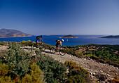 Mountainbikers at lycian coast, Turkey